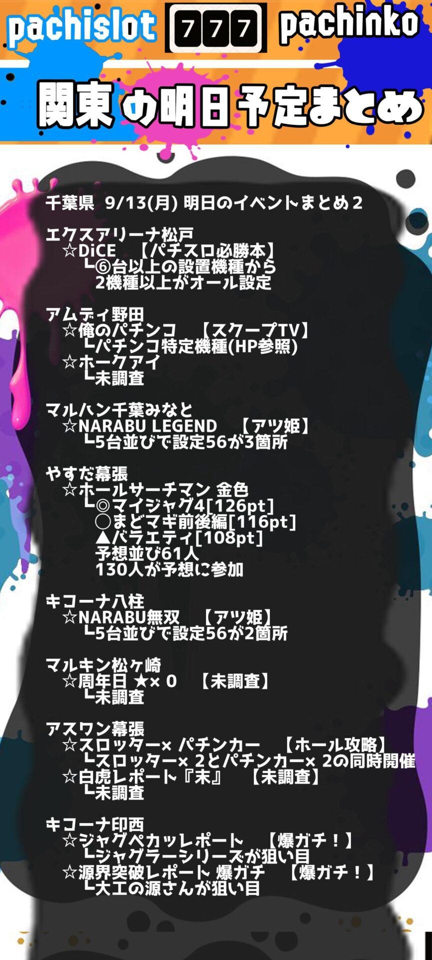 千葉県_2021-09-13_パチンコ・パチスロ_イベント